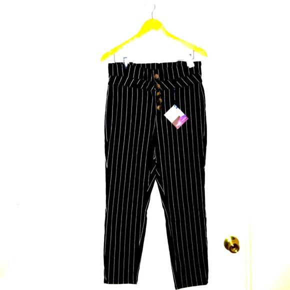 Indigo Rein Denim - High Waist Striped Jeans